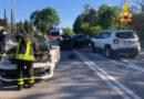 Due feriti nello scontro tra due auto alla periferia di Senigallia