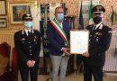 Una pergamena del Comune al comandante della Stazione Carabinieri di Montemarciano